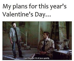 supernatural, Valentine's Day, and castiel image