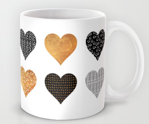 cupid, heart, and pattern image