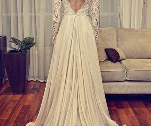 dress, wedding dress, and lace image
