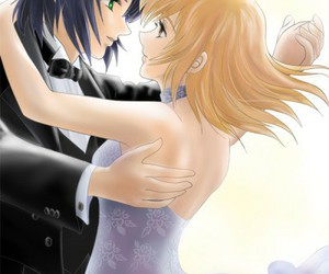 couple, dance, and gundam seed image