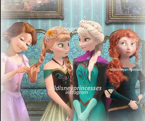 merida, elsa, and anna image