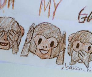 monkey and emoji image