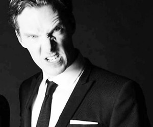 actor, black & white, and dork image