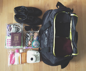 aeroplane, backpack, and travel image