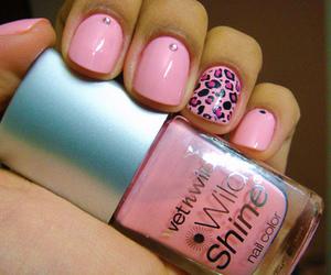 nails, pink, and nail polish image