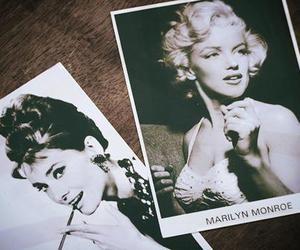Marilyn Monroe, audrey hepburn, and vintage image