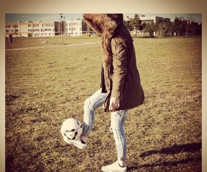 boy, football, and girl image