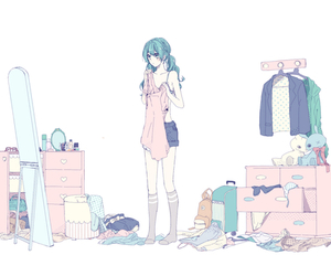 anime, vocaloid, and miku hatsune image