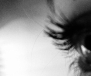 black and white, eye, and grunge image