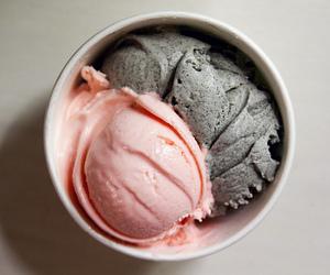 ice cream, strawberry, and dessert image