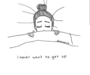 sleep, bed, and never image
