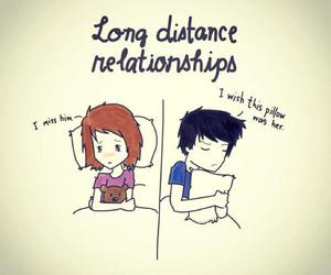 love, Relationship, and distance image