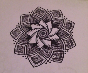 doodle, art, and flower image
