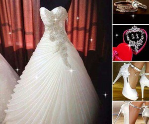 accessories, wedding dress, and bridal image