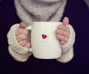 heart, tea, and coffee image
