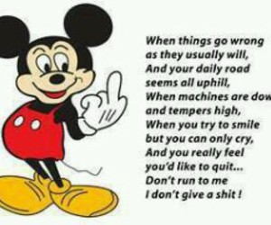 lol, mean, and micky mouse image