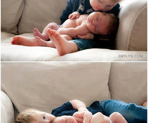 baby, cute, and brothers image