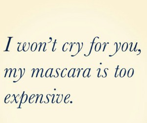 cry, mascara, and expensive image