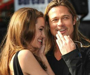 couple, Angelina Jolie, and brad pitt image