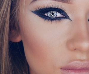 makeup, eyeshadow, and girl image