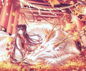 anime and autumn image