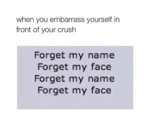 crush, forget, and funny image