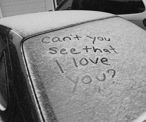 love, snow, and quotes image