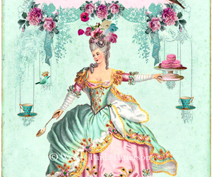 illustration and marie antoinette image