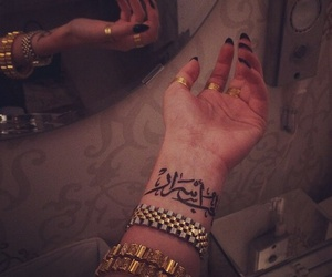 tattoo, nails, and arabic image
