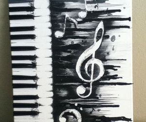 music, art, and piano image