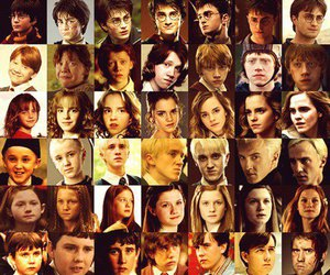 books, years, and harry potter image