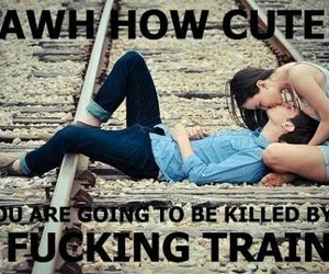 couple, train, and funny image