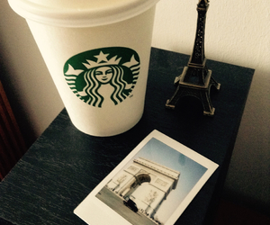 arc de triomphe, coffee, and eiffel tower image