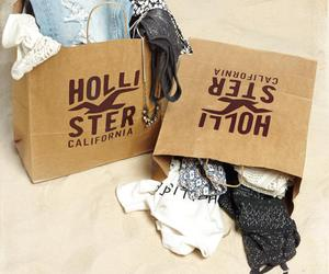 bags, hollister, and clothes image