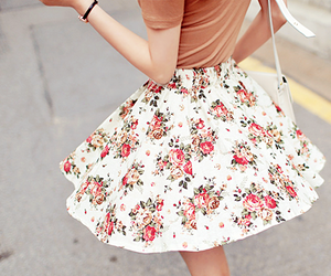 fashion, flowers, and skirt image