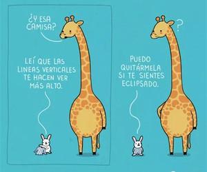 giraffe, funny, and rabbit image