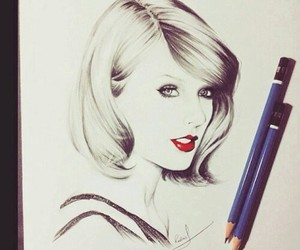drawing, Taylor Swift, and art image
