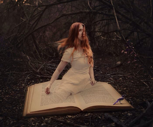 book, fantasy, and forest image