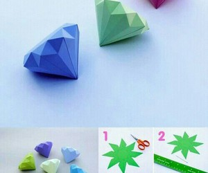 diamond, diy, and origami image