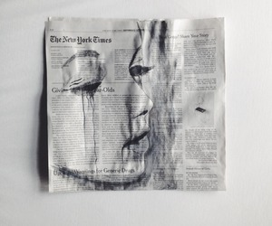 art, newspaper, and grunge image