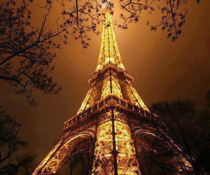 paris, light, and night image
