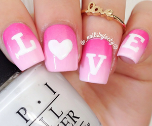 nails, love, and fashion image