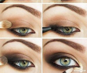 eyes, makeup, and girls image