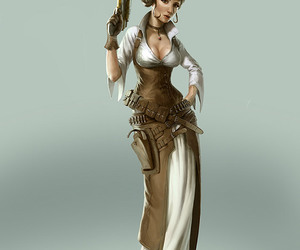 steampunk and steampunk woman image