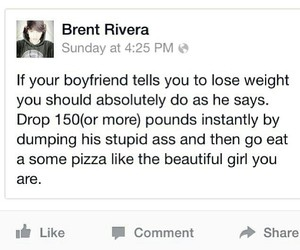 pizza, brent rivera, and boyfriend image