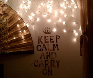 keep calm and carry on and text image
