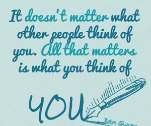 quote, think, and you image