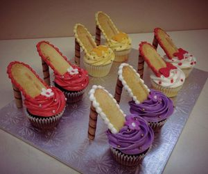 cupcake, shoes, and food image