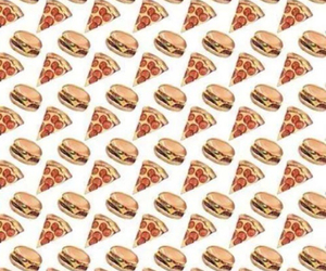 burger, pizza, and food image