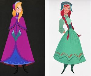 anna, concept art, and disney image